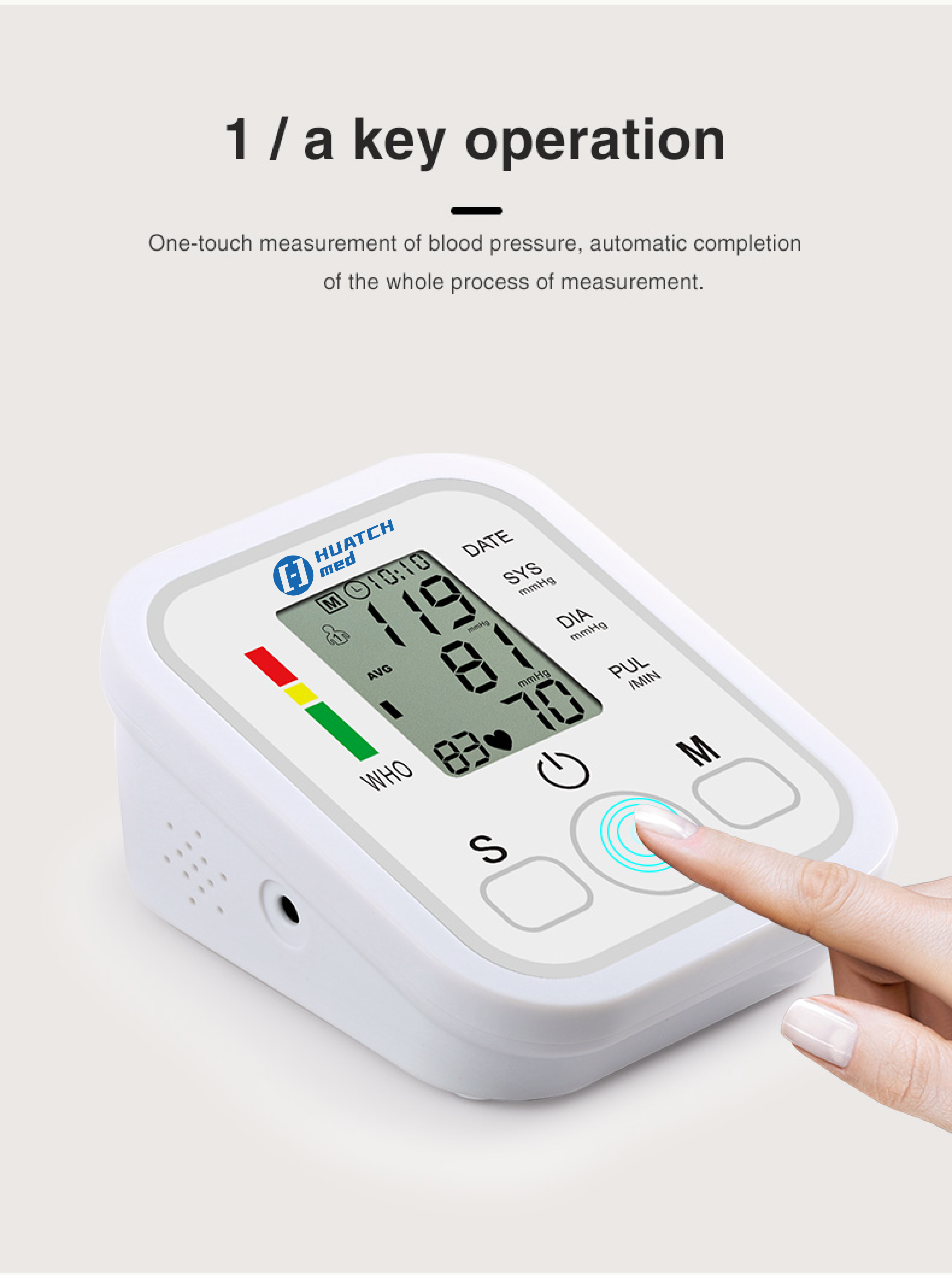 Electronic Blood Pressure Monitor- ZK-869